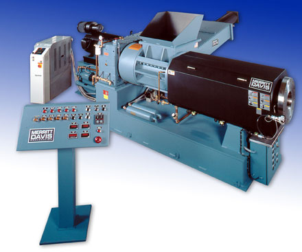 Davis-Standard/Merritt Melt Fed Extruder, A Pumping and Pelletizing Machine